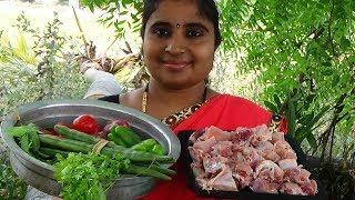 Village Style Chicken Munakkaya Curry | Drumsticks Chicken Recipe Cooking By Aunty | Indian Foods