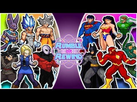 Download DRAGON BALL SUPER vs JUSTICE LEAGUE! (Beerus, Jiren, Goku vs Superman, Batman, Flash) RUMBLE REWIND!