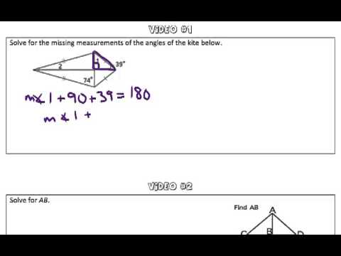 Properties of Kites and Trapezoids Video #1
