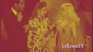 CATFIGHT! BLONDE BETTY PAGE PICKS RUMBLE WITH STRIPPER! BURLESQUE BEAUTIES BATTLE!!