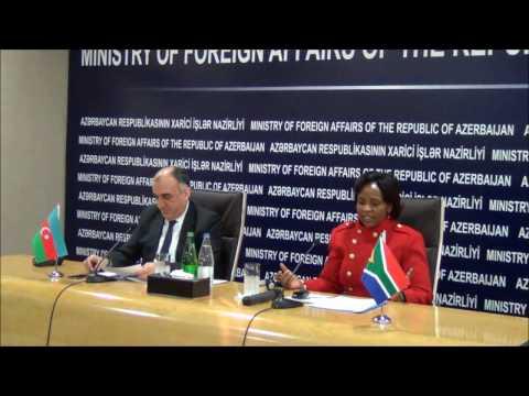 Joint Press Conference of Foreign Minister Elmar Mammadyarov and Maite Nkoana-Mashabane