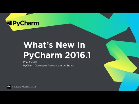 What's New In PyCharm 2016.1