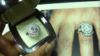 Mr Chris Da Jeweler Sterling Silver Lab Diamond Chrissy Lampkin Promise Ring ( Video No: SR9055 )
