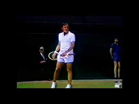 Wimbledon 1969 Final ( 1080p ) - Rod Laver (1) vs John Newcombe (6)