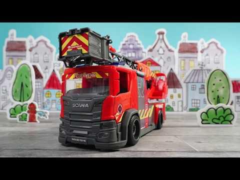 Spielzeug Drehleiter groß - Rosenbauer & Dickie Toys