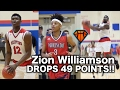 Zion Williamson DROPS 49 POINTS & a Nasty Windmill!! | 2019 Raishaun Brown Has 22 For Carolina Day