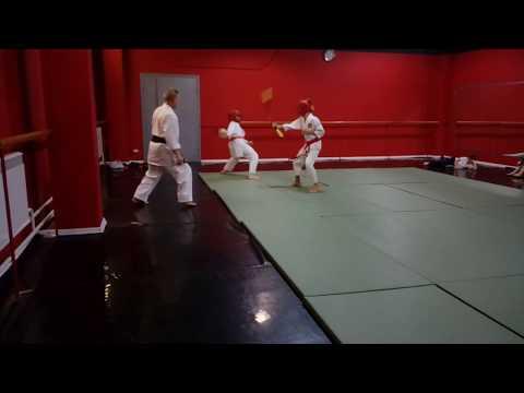 Детский бой учебными нунчаку