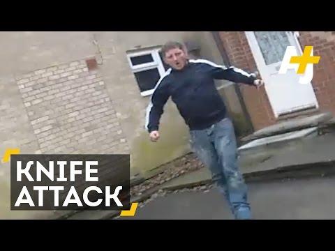 UK Police Take Down Knife Wielding Man. What Would Happen In The U.S.?