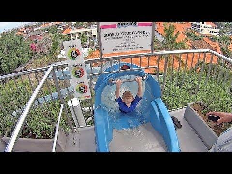 Blue Pipeline Water Slide at Waterbom Bali