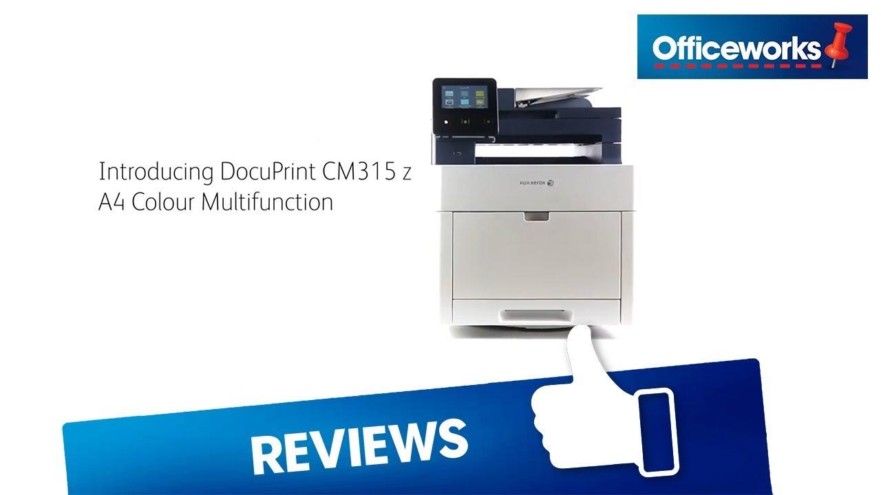 Fuji Xerox DocuPrint Wireless Colour Laser MFC Printer CM315z