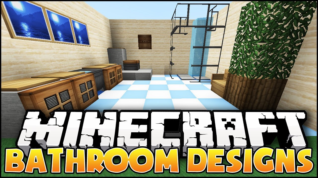 Bathroom Ideas On Minecraft minecraft: bathroom designs & ideas - youtube