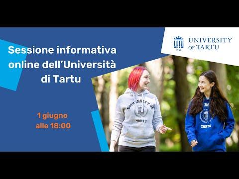 Sessione informativa online dell'Università di Tartu - 2021
