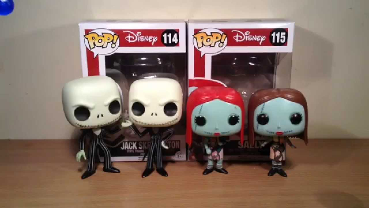 Funko Pop Vinyl Jack Skellington With Snowflake And Sally