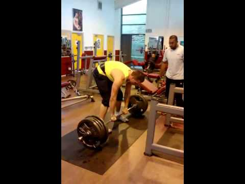 Crazy Guy Breaks His Back Deadlifting