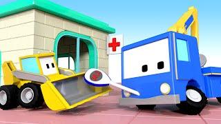Больница 👶 🚚 бульдозер, кран, экскаватор, обучающий мультфильм
