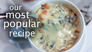 Creamy Wild Rice Soup: Vegan Vitamix Recipe!