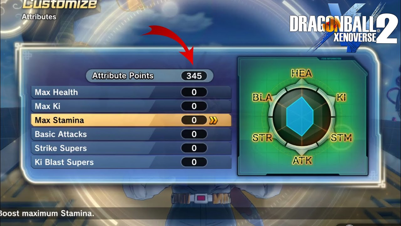 How To Reset Attribute Points - Dragon Ball Xenoverse 2