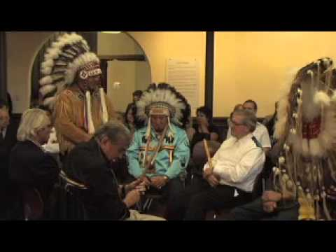 Axworthy Honoured at Sacred Pipe Ceremony