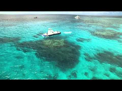 Semi Submersible tours on the Great Barrier Reef (drone footage taken by UAView-Cairns)