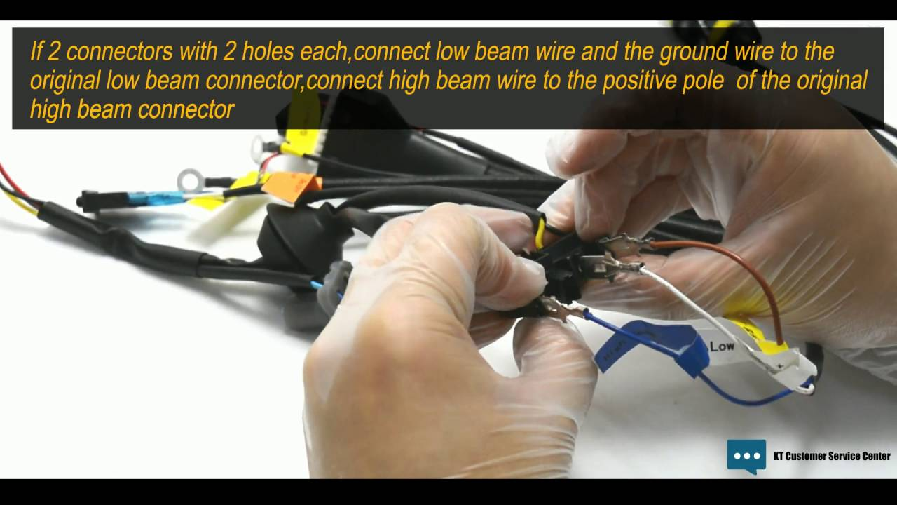 How To Connect High Beam Wire  U0026 Low Beam Wire To The