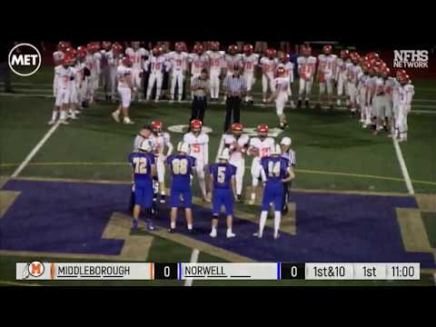 MIAA Football Playoff: Middleborough at Norwell - November 3, 2017