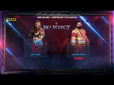 NCWF Bad Blood Bobby Roode vs Edge Corporate Title Match