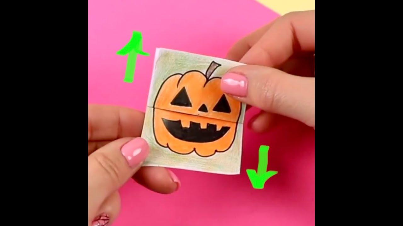 DIY Милая ОТКРЫТКА с сюрпризом на Хэллоуин Easy Halloween card #shorts