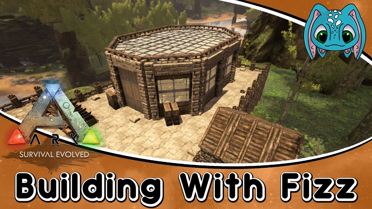 ARK:Survival Evolved Building W/ Fizz :: Modern Style GreenHouse Build    YouTube