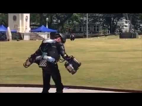 Iron Man Style FLYING Jet Suit Demo in Singapore