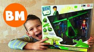 ВМ: Игрушка Бен 10 Мини-корабль с фигуркой| Unboxing Bandai Ben10