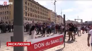 Драка Русских и Английских футбольных фанатов в Марселе  11 июня 2016 ЭКСКЛЮЗИВ!