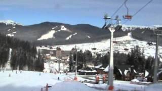 видео Трансфер и катание на лыжах на курорте БУКОВЕЛЬ