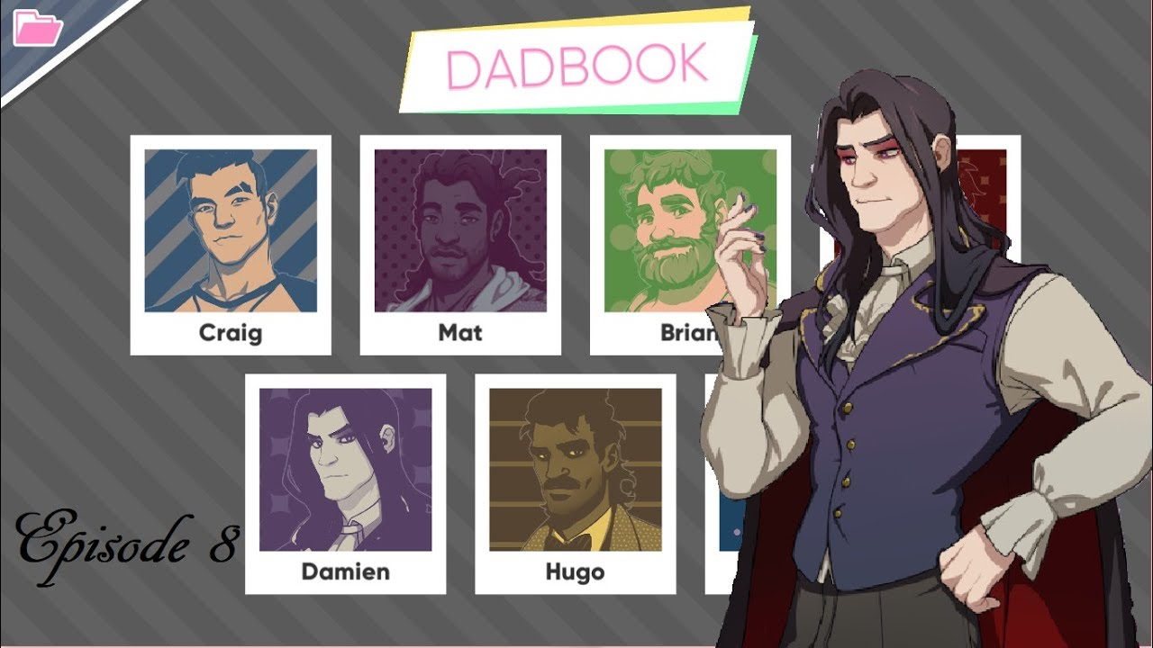 Dream Daddy: A Dad Dating Simulator Characters In Frozen