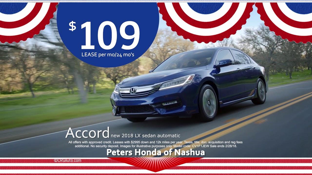 Honda fg presidents month accord youtube for Peters honda of nashua