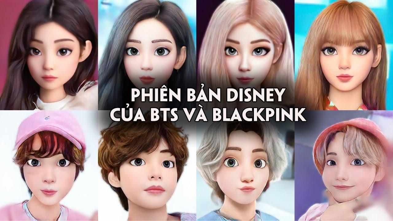 Black Pink và BTS 'phiên bản Disney' sẽ trông như thế nào?
