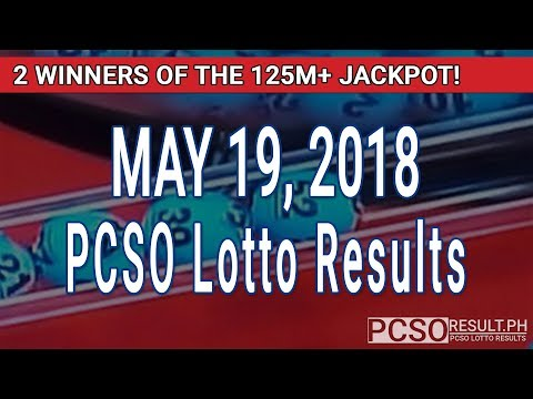 PCSO Lotto Results Today May 19, 2018 (6/55, 6/42, 6D, Swertres, STL & EZ2)