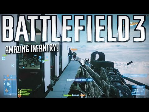 12 minutes of the best Battlefield 3 infantry gameplay! - Battlefield Top Plays |