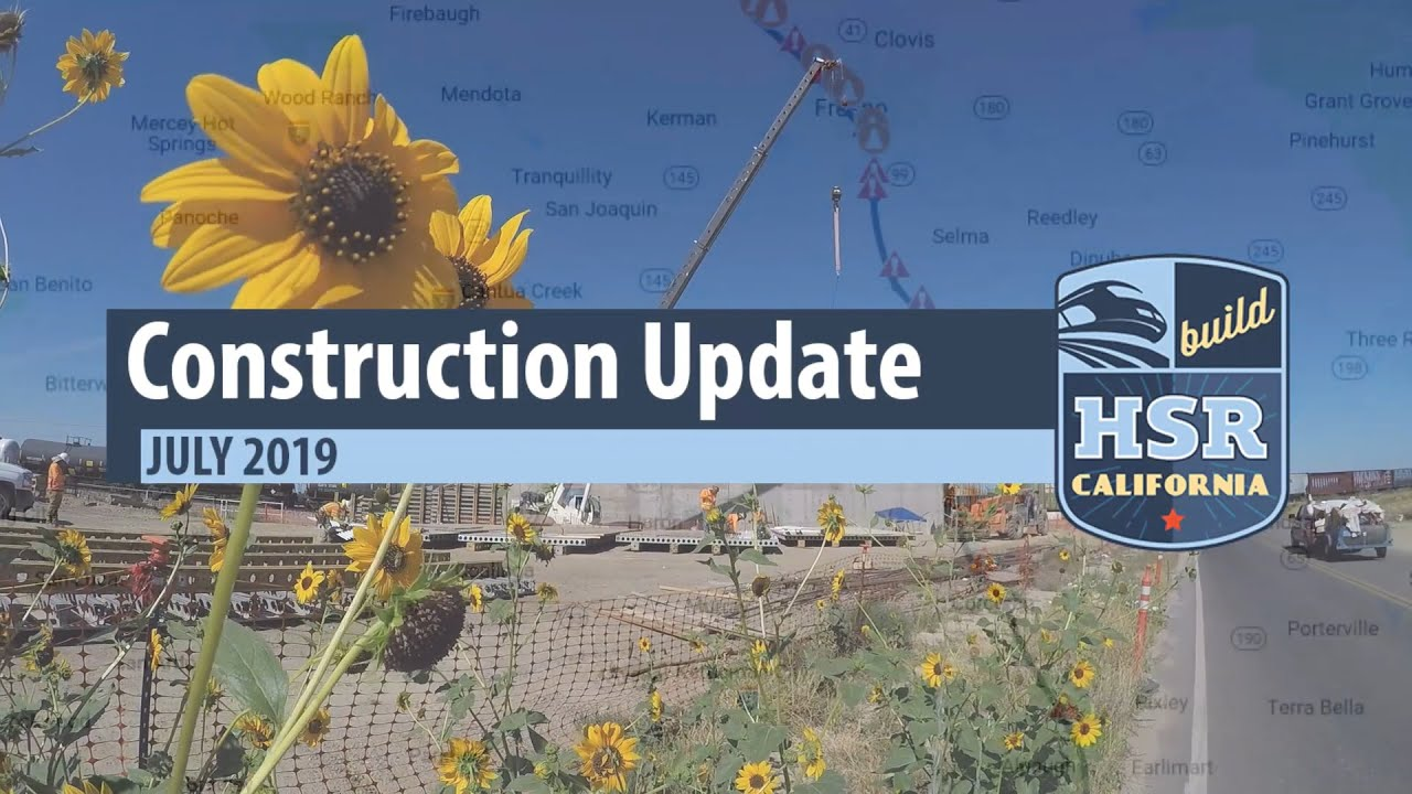 More than a dozen active construction sites dot the 119 miles of high-speed rail construction in the Central Valley. Watch our latest construction update video to see the work in progress.