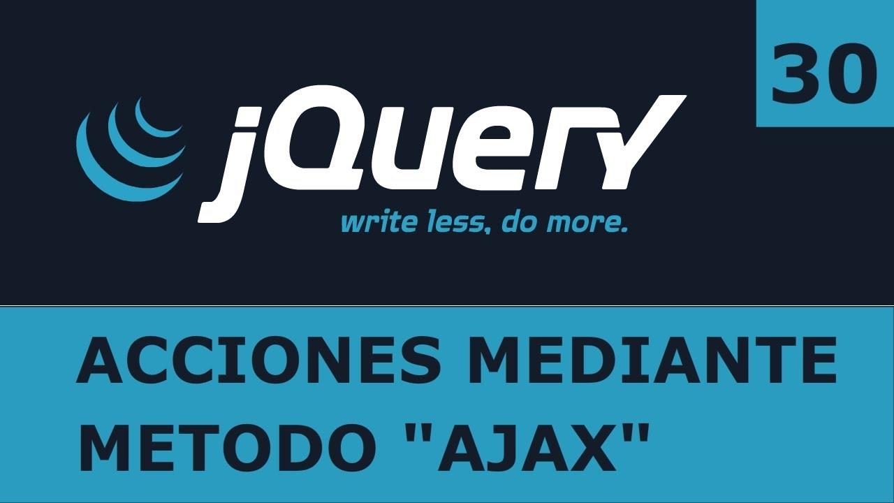 Tutorial jquery 30 peticiones con el mtodo ajax youtube baditri Choice Image