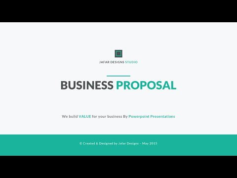 Business proposal powerpoint template youtube business proposal powerpoint template fbccfo Choice Image