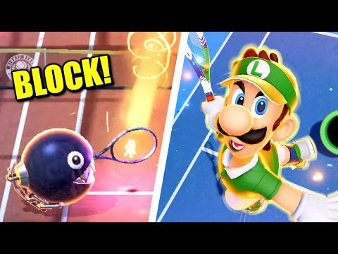 Mario Tennis Aces - How to Block all Special Shots |