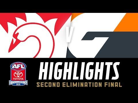 Sydney v GWS Highlights | Elimination Final, 2018 | AFL