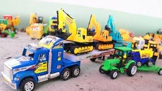 รถก่อสร้างรับจ้างทำถนน รถบรรทุกพ่วง รถดั้ม รถตักดิน รถบดดิน รถแม็คโคร Excavator and dump t