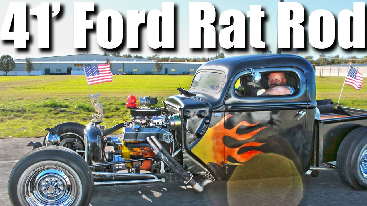 1941 Ford Rat Rod With Chevrolet Small Block Power Youtube Hot