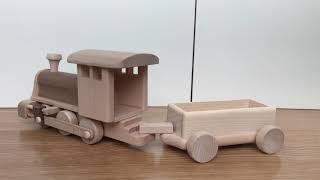 Mr Crafty Wooden toy train