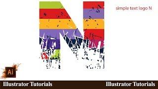 How to design N logo  Illustrator CC l YouTube Tutorials Tuts