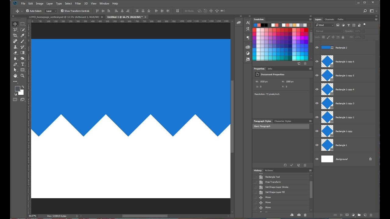 How To: Create a zigzag border in Photoshop