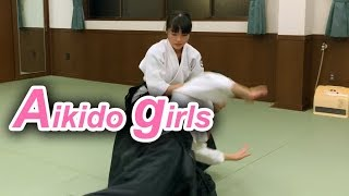 Dynamic and Beautiful Aikido woman in Japan