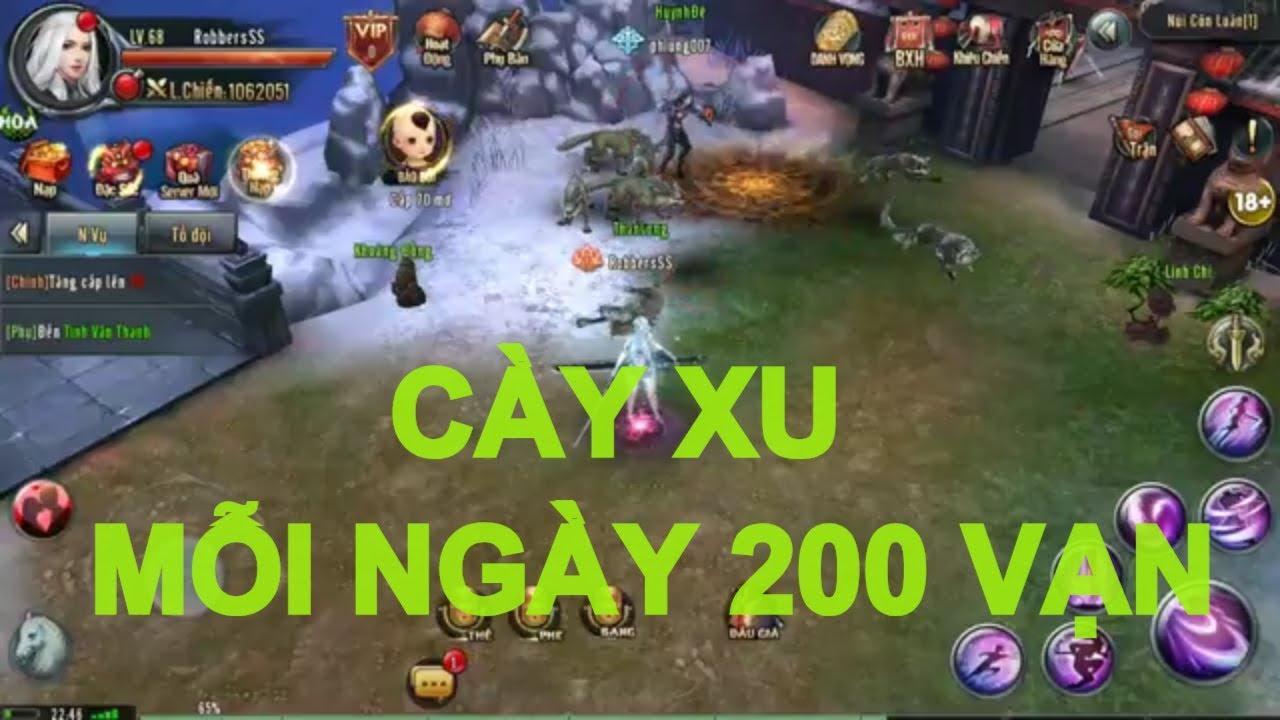 Cách cày mỗi ngày 200 vạn xu game Ỷ Thiên 3D mobile