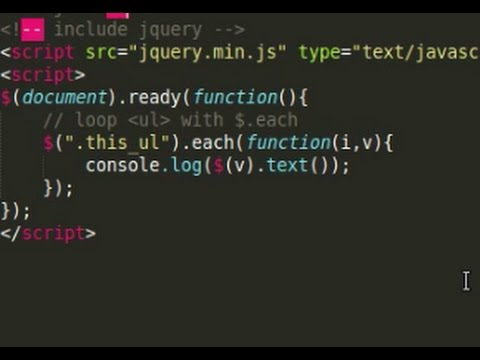 Jquery Tutorial - loop html elements, json with $.each ...